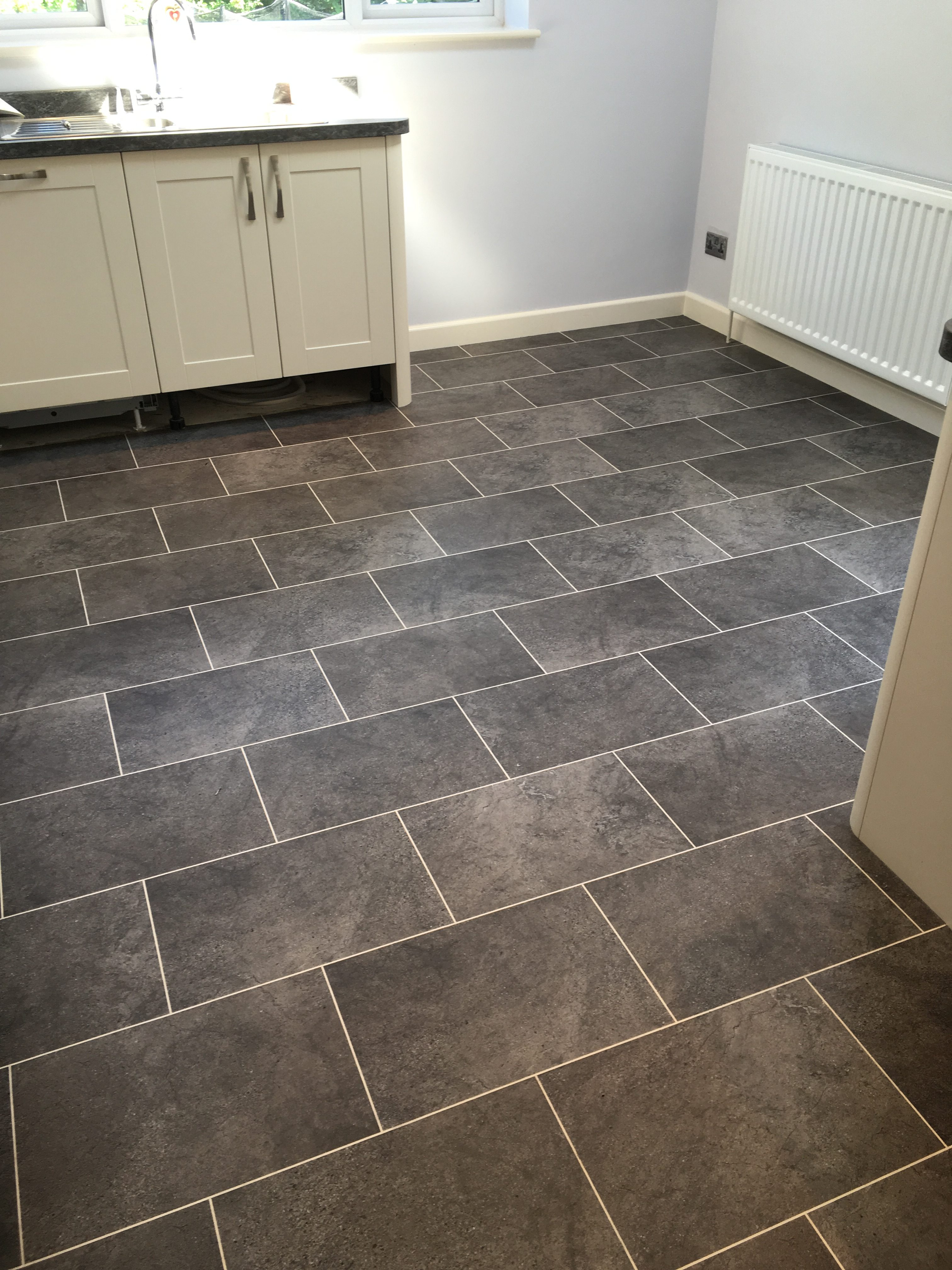 Karndean knightile cumbrian stone with chalk design strips for Preparing floor for vinyl